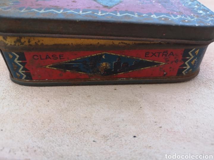 Cajas y cajitas metálicas: Antigua caja de lata de dulce de membrillo y jalea Puente Genil - Foto 3 - 171247840