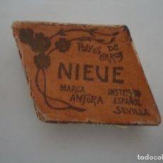 Boîtes et petites boîtes métalliques: CAJITA DE CARTON CON FORMA DE ROMBO DE POLVOS DE ARROZ NIEVE MARCA ANFORA. COLOR ROSA. --4. Lote 171312043