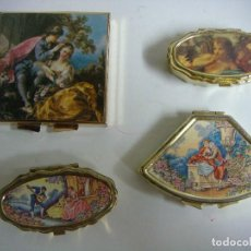 Cajas y cajitas metálicas: CAJITAS PASTILLERAS LOTE DE 4 CAJITAS PASTILLERAS . Lote 171335978