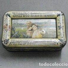 Cajas y cajitas metálicas: CAJA METALICA LATA DE ALMENDRAS SALINAS ALCALA DE HENARES - CAJAMETALICA-443. Lote 171412608