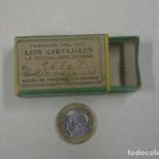 Cajas y cajitas metálicas: CAJA FARMACIA CARBAJALES , MADRID. Lote 171507210