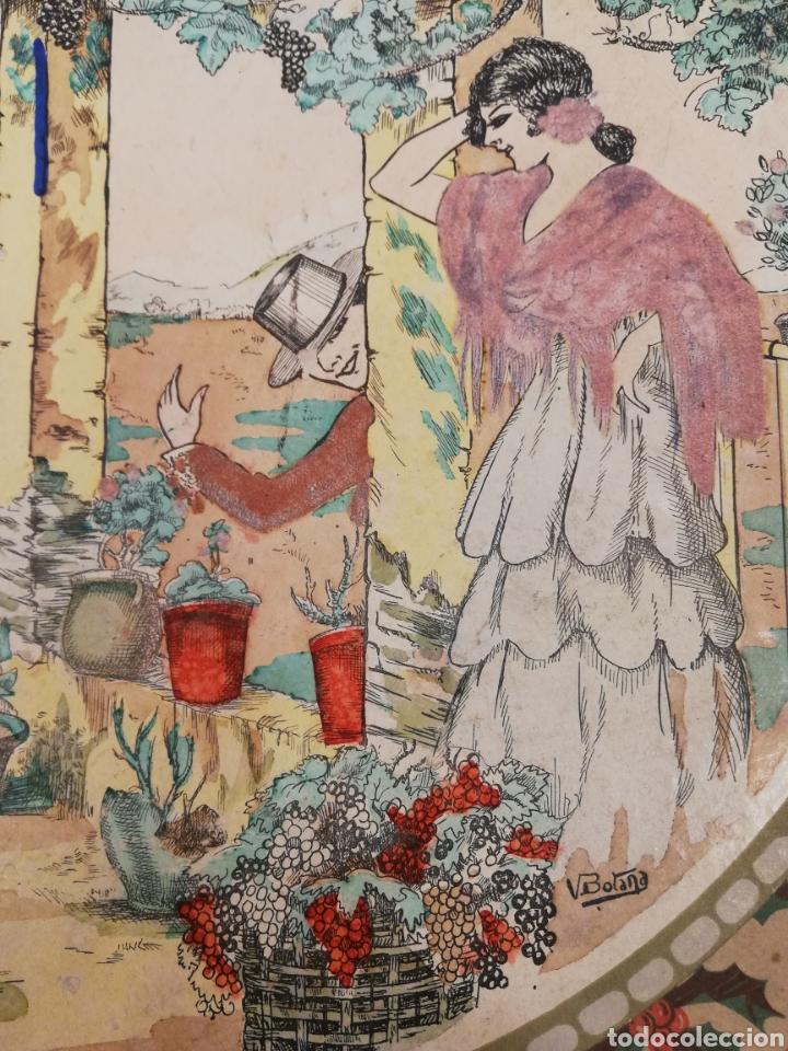 Cajas y cajitas metálicas: Caja de cartón decorado a mano por. V. botana - Foto 3 - 171816090
