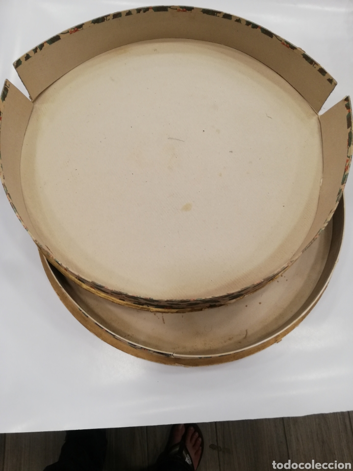 Cajas y cajitas metálicas: Caja de cartón decorado a mano por. V. botana - Foto 5 - 171816090