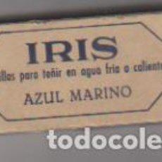 Cajas y cajitas metálicas: IRIS. PASTILLAS PARA TEÑIR. Nº 23. AZUL MARINO. SIN USAR . CONTIENE EL PRODUCTO. Lote 171985823