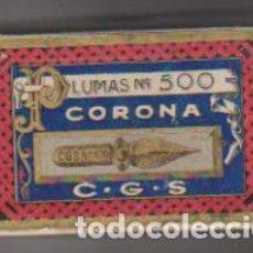 Cajas y cajitas metálicas: CAJA VACÍA. PLUMAS CORONA Nº 500. Lote 171985838