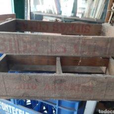 Cajas y cajitas metálicas: SIDRAS CIMA COLLOTO ASTURIAS CAJA ANTIGUA MADERA. Lote 172069485
