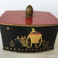 Cajas y cajitas metálicas: ANTIGUA CAJA DE CHAPA MOTIVOS CHINOS. Lote 172097450