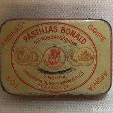 Cajas y cajitas metálicas: PASTILLAS BONALD, ANTIGUA CAJITA. Lote 172770244