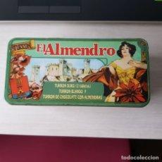 Cajas y cajitas metálicas: CAJA METÁLICA DE TURRÓN EL ALMENDRO, MONERRIS PLANELLES, BUEN ESTADO, LEER DESCRIPCIÓN. Lote 262355835