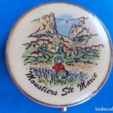 Cajas y cajitas metálicas: CAJA PASTILLERO DE METAL. FRANCIA. MOUSTIERS STE MARIE. Lote 173296375