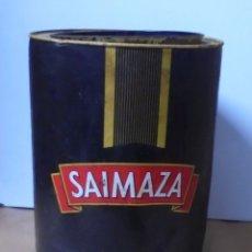 Cajas y cajitas metálicas: ANTIGUA LATA DE SAIMAZA. ESPECIAL HOSTELERIA. GRAN TAMAÑO. 34 CM ALTO X 25 CM DIAMETRO. VER FOTOS. Lote 173565133