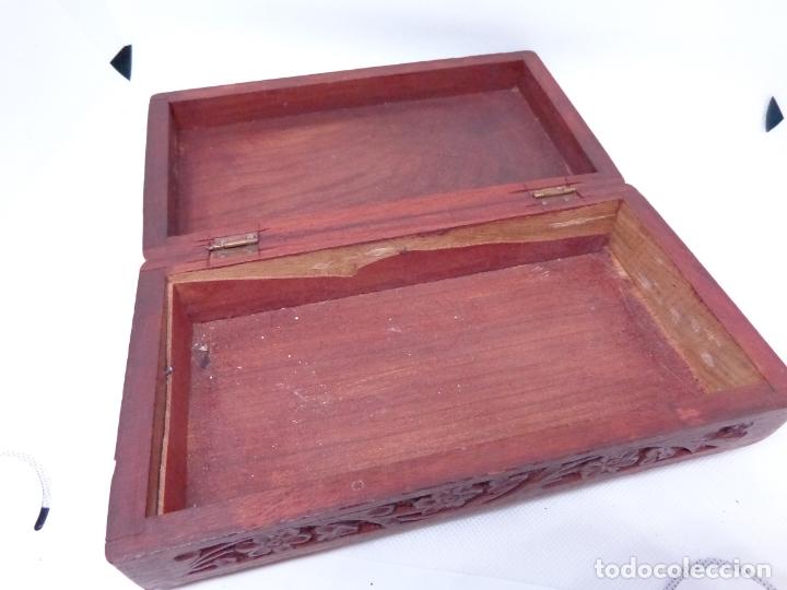 Cajas y cajitas metálicas: ¡¡¡ CAJA DE MADERA TALLADA !!! - Foto 3 - 174236020