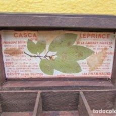 Cajas y cajitas metálicas: RARA CAJITA DE MADERA CASCARINE LE PRINCE 1892. Lote 174424794