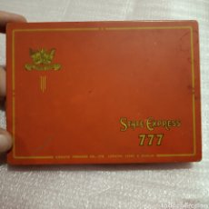 Cajas y cajitas metálicas: CAJA DE METAL TABACO CIGARRILLOS CIGARROS STATE EXPRESS 777. Lote 174510600