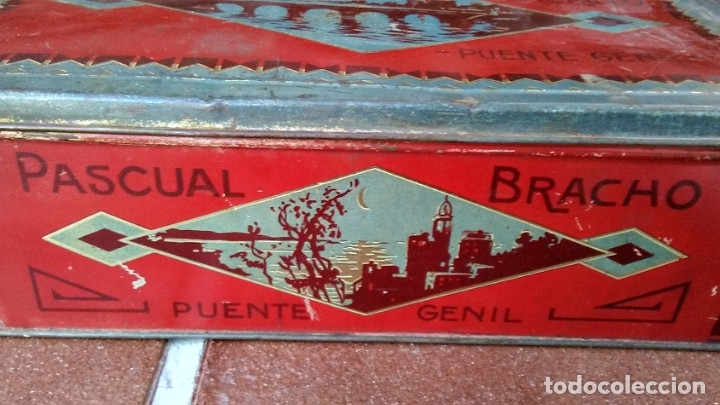 Cajas y cajitas metálicas: CAJA LATA DULCE/MEMBRILLO PUENTE GENIL - Foto 3 - 174512489