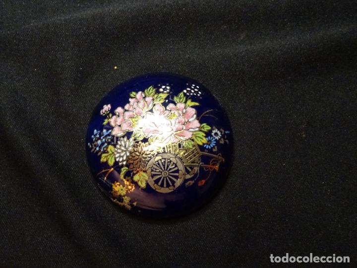 Cajas y cajitas metálicas: caja de porcelana, esmalte y dorados - Foto 3 - 175491528