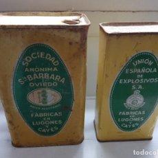 Cajas y cajitas metálicas: CAJAS HOJALATA UNION ESPAÑOLA DE EXPLOSIVOS S.A.. Lote 175819830