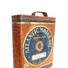 Cajas y cajitas metálicas: CAJA / LATA 2L ATLANTIC MOTOR OIL ACEITE PARA AUTOMOVILES. MADRID AÑOS 20 - 30. Lote 175987837