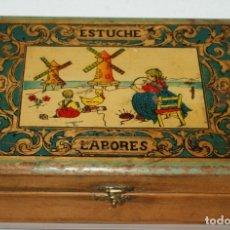 Cajas y cajitas metálicas: CAJA ESTUCHE LABORES. Lote 176128410