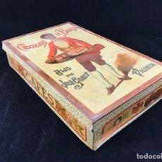 Cajas y cajitas metálicas: GRAN ANTIGUA CAJA DE LATA DE CHOCOLATES EL BARCO - HIJO DE JOSE GOMEZ - VALENCIA. Lote 176263708