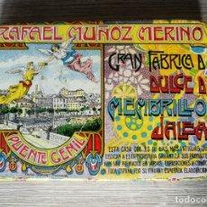 Cajas y cajitas metálicas: CAJA DE HOJALATA LITOGRAFIADA DE PUENTE GENIL - RAFAEL MUÑOZ MERINO - DULCE DE MEMBRILLO Y JALEA. Lote 176493947