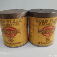 Cajas y cajitas metálicas: CAJAS METAL GOLD FLAKE. Lote 176541520