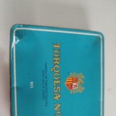 Cajas y cajitas metálicas: CAJA TURQUESA N 4. Lote 176541998