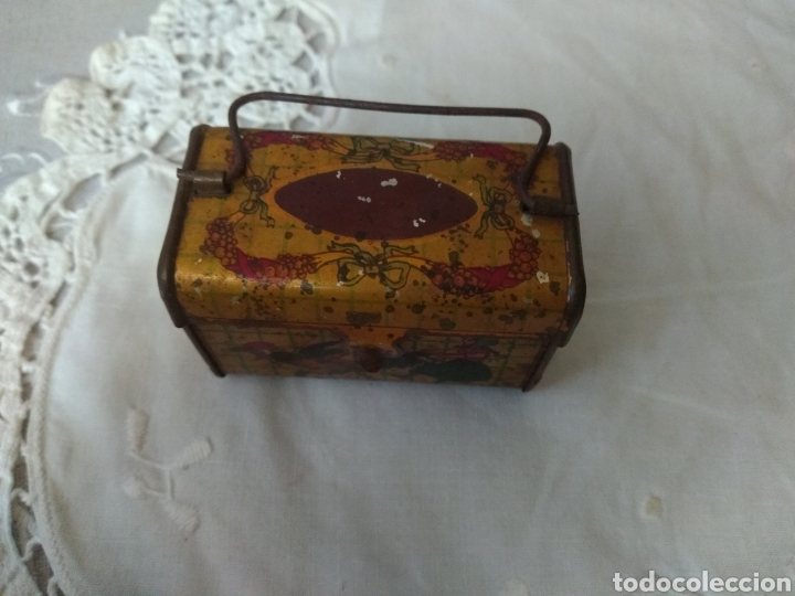 Cajas y cajitas metálicas: CAJITA, ( SIGLO XIX DE METAL , PINTADA ) . MÁS ARTÍCULOS ANTIGUOS EN MI PERFIL. - Foto 2 - 176577560