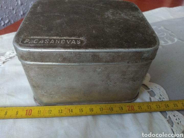 Cajas y cajitas metálicas: CAJA ALUMINIO ( FARMACIA , P. CASANOVAS , TAMAÑO GRANDE ). MÁS ARTÍCULOS ANTIGUOS EN MI PERFIL. - Foto 7 - 176580252