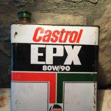 Cajas y cajitas metálicas: ANTIGUA LATA CASTROL EPX 80W/90 AÑOS 70. Lote 176845112