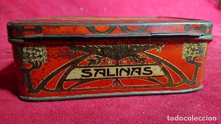 Cajas y cajitas metálicas: CAJA LITOGRAFIADA ALMENDRAS DE ALCALA DE HENARES SALINAS - Foto 4 - 177274937