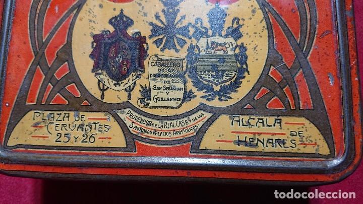 Cajas y cajitas metálicas: CAJA LITOGRAFIADA ALMENDRAS DE ALCALA DE HENARES SALINAS - Foto 8 - 177274937