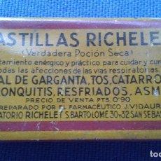 Cajas y cajitas metálicas: LATA LATITA PASTILLAS RICHELET. Lote 177335529