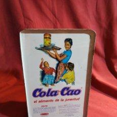 Cajas y cajitas metálicas: LATA DE COLACAO - DECORACION FLORES. Lote 177468535