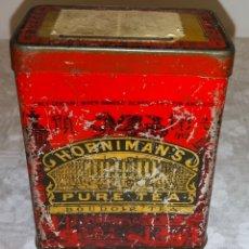 Cajas y cajitas metálicas: ANTIGUA CAJA DE LATA HORNIMAN'S PURE TEA . Lote 177505125