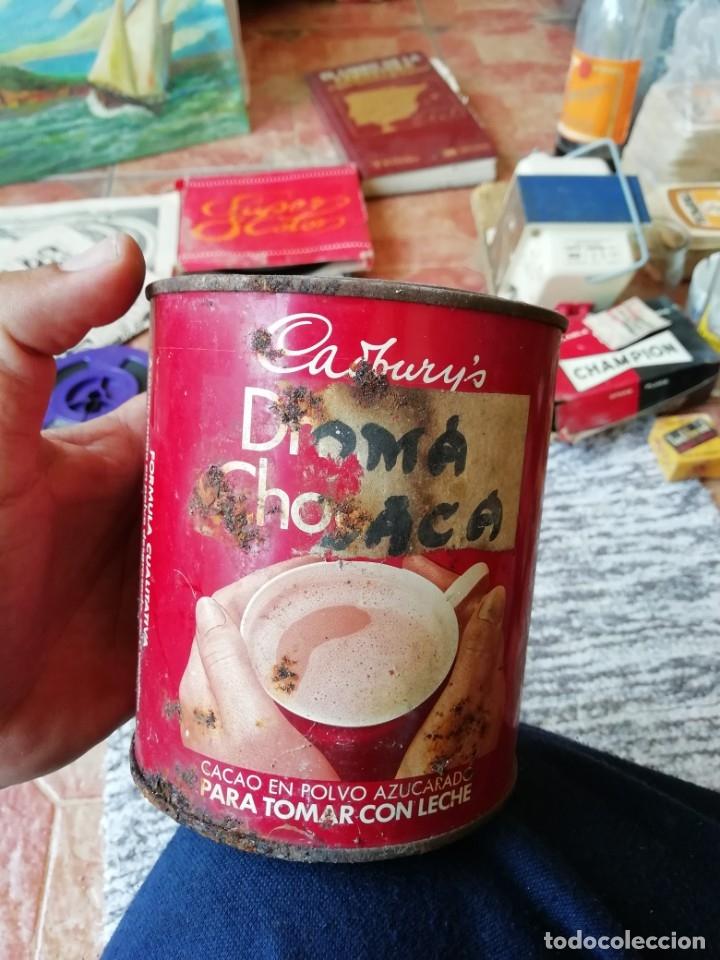 Cajas y cajitas metálicas: Antigua lata envase chocolate cadbury's cacao en polvo azucarado tapa en relieve - Foto 3 - 177658587