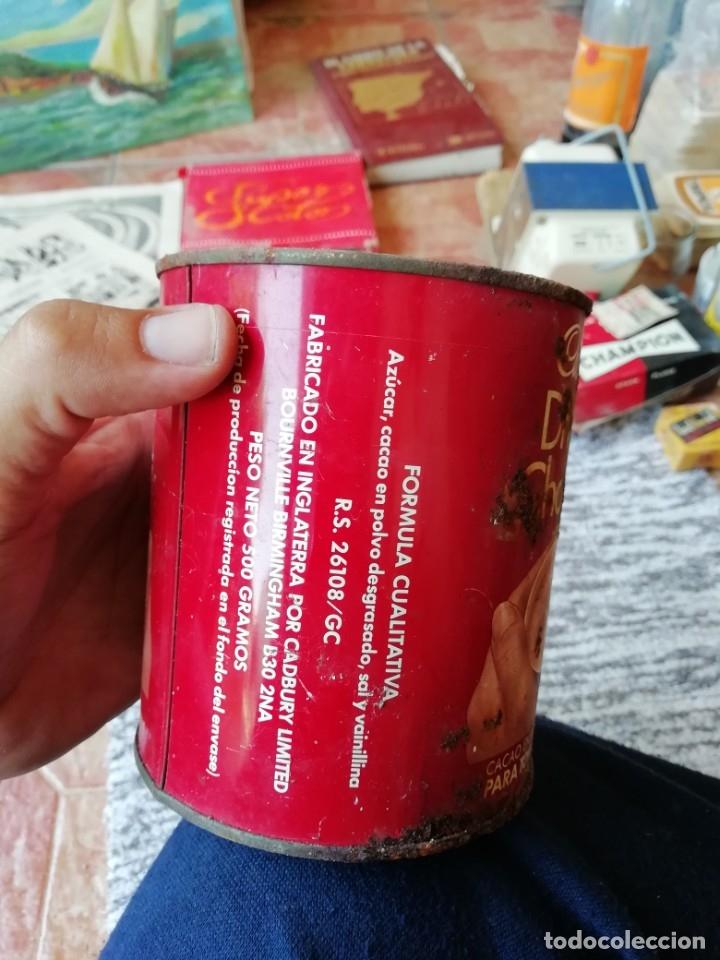 Cajas y cajitas metálicas: Antigua lata envase chocolate cadbury's cacao en polvo azucarado tapa en relieve - Foto 4 - 177658587