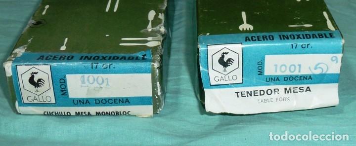 Cajas y cajitas metálicas: 2 cajas de carton vacias de cubiertos gallo. - Foto 2 - 177689465