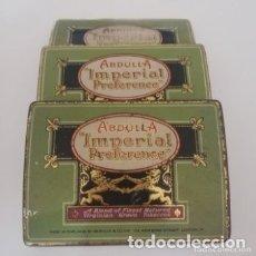 Cajas y cajitas metálicas: LOTE DE TRES CAJAS DE CHAPA , BOMBEADA - ABDULL-A IMPERIAL, VIRGINIA GROWN TABACO. Lote 177690752