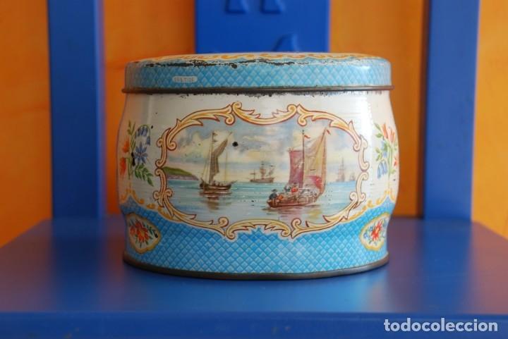 ANTIGUA CAJA METALICA DE GALLETAS INGLESA (Coleccionismo - Cajas y Cajitas Metálicas)