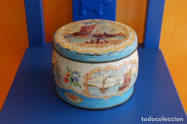 Cajas y cajitas metálicas: ANTIGUA CAJA METALICA DE GALLETAS INGLESA - Foto 2 - 177713648