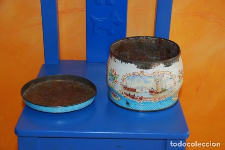 Cajas y cajitas metálicas: ANTIGUA CAJA METALICA DE GALLETAS INGLESA - Foto 4 - 177713648