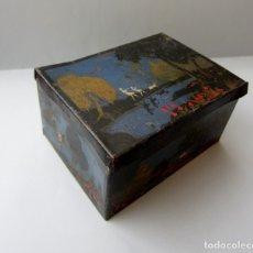 Cajas y cajitas metálicas: MAGNÍFICA CAJA METAL LATA HILATURAS LABOR, BARCELONA. ZURCIR BRILLANTE SIMIL SEDA PRECIOSOS COLORES . Lote 178046104