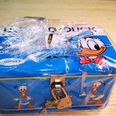 Cajas y cajitas metálicas: DISNEY HUCHA PATO DONALD. Lote 178218490