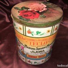 Cajas y cajitas metálicas: CAJA LATA DE TORTAS TECLO HIJOS DE MANUEL SIRVENT MIRALLES JIJONA. Lote 178227183