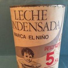 Cajas y cajitas metálicas: ANTIGUA LATA DE LECHE CONDENSADA EL NIÑO. BOTE EL NIÑO DE 5KG. LECHE PURA DE VACA CAJA METALICA. Lote 178371341