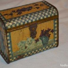 Cajas y cajitas metálicas: ANTIGUO CABAS DE HOJALATA LITOGRAFIADA - G. DE ANDREIS BADALONA - VINTAGE - ¡HAZ OFERTA!. Lote 178604207