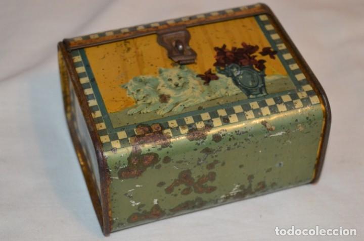 Cajas y cajitas metálicas: ANTIGUO CABAS DE HOJALATA LITOGRAFIADA - G. DE ANDREIS BADALONA - VINTAGE - ¡HAZ OFERTA! - Foto 2 - 178604207