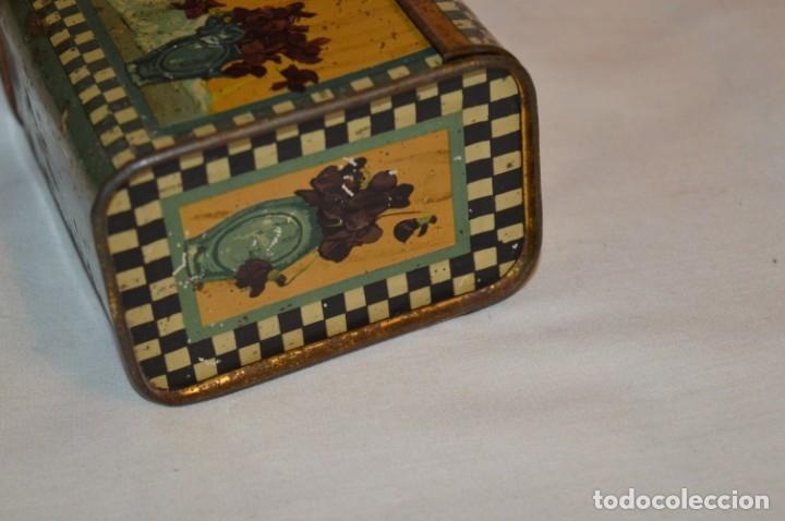 Cajas y cajitas metálicas: ANTIGUO CABAS DE HOJALATA LITOGRAFIADA - G. DE ANDREIS BADALONA - VINTAGE - ¡HAZ OFERTA! - Foto 3 - 178604207
