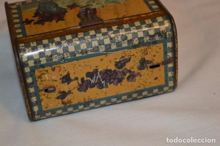 Cajas y cajitas metálicas: ANTIGUO CABAS DE HOJALATA LITOGRAFIADA - G. DE ANDREIS BADALONA - VINTAGE - ¡HAZ OFERTA! - Foto 4 - 178604207